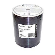 100 Falcon SUPPORTI DVD+R DL BIANCO INKJET PRINTABLE 8X 8.5 GB Dual Layer shrink wrap