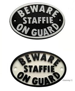Beware-Staffie-On-Guard-Dog-Sign-House-Garden-Sign-Plaque