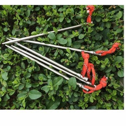 4 X Titanium Tent Peg Spike Camping Stake Nail Self Defense Survival Hiking New
