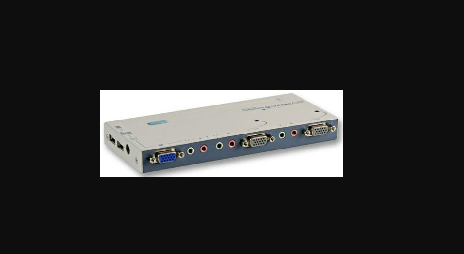 Compact 2-Port USB KVM with Audio & Leads
