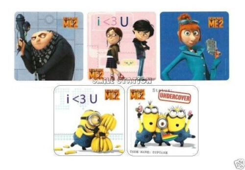 15 Despicable Me 2 Stickers Kid Reward Party Goody Loot Bag Filler Favor Supply
