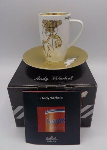 Andy Warhol Rosenthal golden Angel Latte Macchiato Set in der original Box