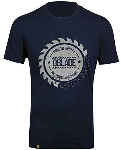 DBlade Buzz Print Mens T-Shirt Navy Short Sleeve Top 100/% Cotton S M L XL XXL