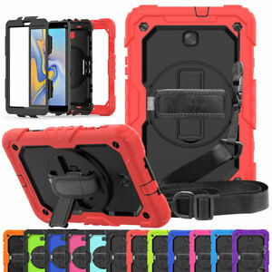 Hybrid-Rugged-Stand-Case-For-Samsung-Galaxy-Tab-A-10-1-034-T580-T585-with-Strap