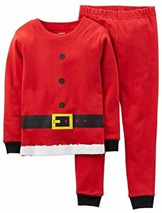 07a70557f Carter s Red Christmas Santa Claus Knit Pajamas Sleepwear Set ...