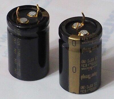 Nichicon  Super Through capacitor 1000u 50V 2pc !!