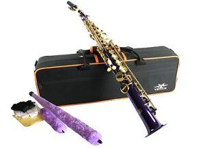 Actif Vénus Saxophone Soprano-violet Couleur Or Avec Clés-neuf-afficher Le Titre D'origine CaractéRistiques Exceptionnelles