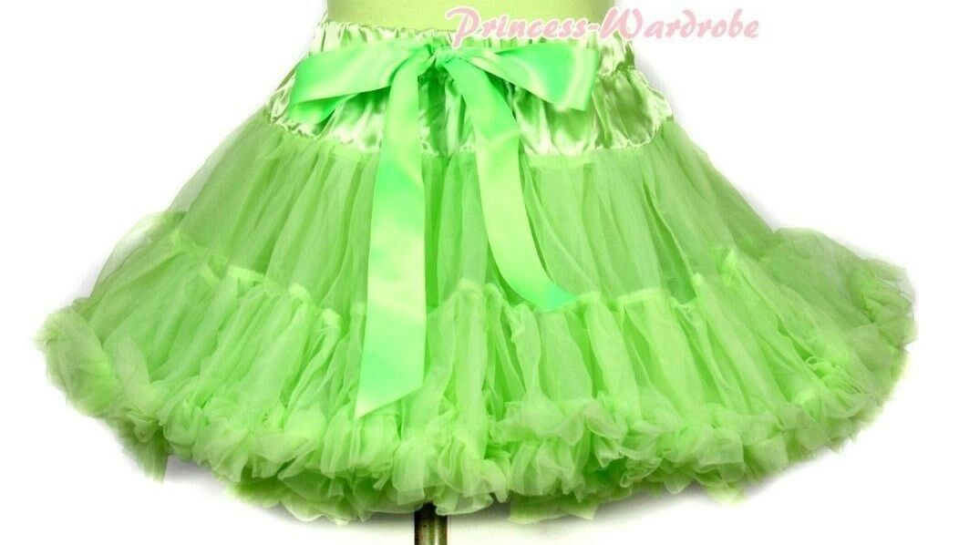 Lime Green Full Tutu Skirt Dance Party Dress Girl Adult Women Lady