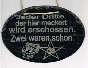 """Humor 1 Spruch Auf Natur Schiefer """"jeder Dritte Der Hier Meckert.."""" 18x13 Cm Mit Korde Möbel & Wohnen Gedeckter Tisch"""