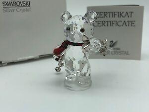 Swarovski-Figurine-Kris-Ours-Ski-Pilote-5-Cm-avec-Ovp-amp-Zertifikat-Top-Etat