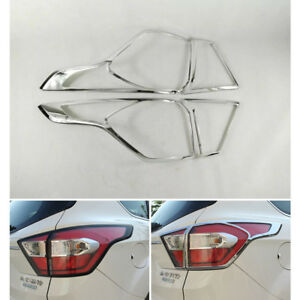 ABS Chrome Tail light Cover Trim For Ford Kuga Escape 2017 2018