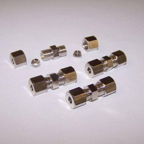 4 x Bremsleitungsverbinder Bremsleitung Reparatur 6 mm Schneidring Verbinder