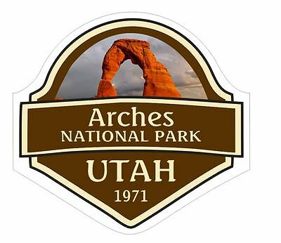 Arches National Park Printed Sticker Stamp Postage Delicate Arch Mesa Moab UTAH