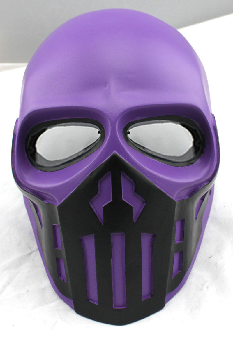 NEW COOL Purple Paintball CS Airsoft Full Face PC Lens Eye Predection Skull Mask
