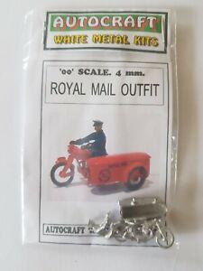 1940s 1950s Royal Mail Motorcycle & Sidecar 00 Gauge 1/76 4mm Metal Kit Oo