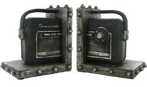 Radio-transistor-Nordmende-Buchstuetzen-Regal-Bookshelf-Tidy-Pair-2-Stueck-NEU