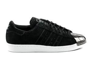Adidas Originals Superstar de mujeres s75056 negro metal Toe 80