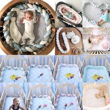Infant Soft Braided Crib Bumper Fence Bumper Bedding Cushion Sleep Protection