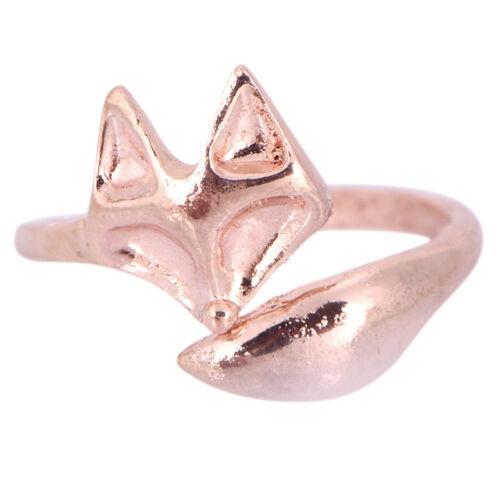 Fox Finger Ring Open Adjustable Ring Cute Animal Ring Women Jewelry U  J7