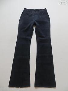 Levi-039-s-Jeans-Booty-Lederhose-W-28-L-34-RAR-Denim-styled-Echt-Leder-Hose