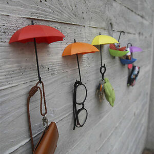 3PCS-Creative-Umbrella-Shape-Wall-Mount-Hook-Key-Holder-Hanging-Hooks-ZB1X