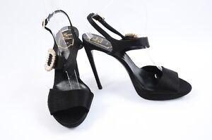 Roger-Vivier-black-10-5-40-5-embellished-buckle-platform-sandal-shoe-NEW-2095