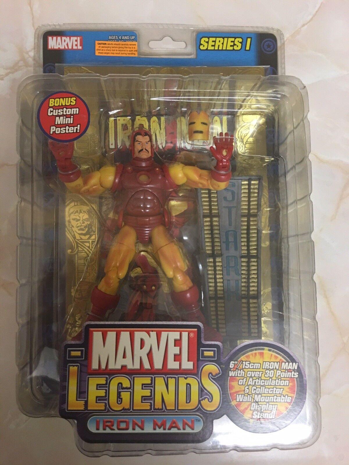 Marvel - legenden iron - man - reihe 1 gelbe toybiz bnib ungeöffnet