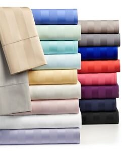 Egyptian Cotton 1 PC Fitted Sheet Extra Deep Wall Striped Colors AU Queen