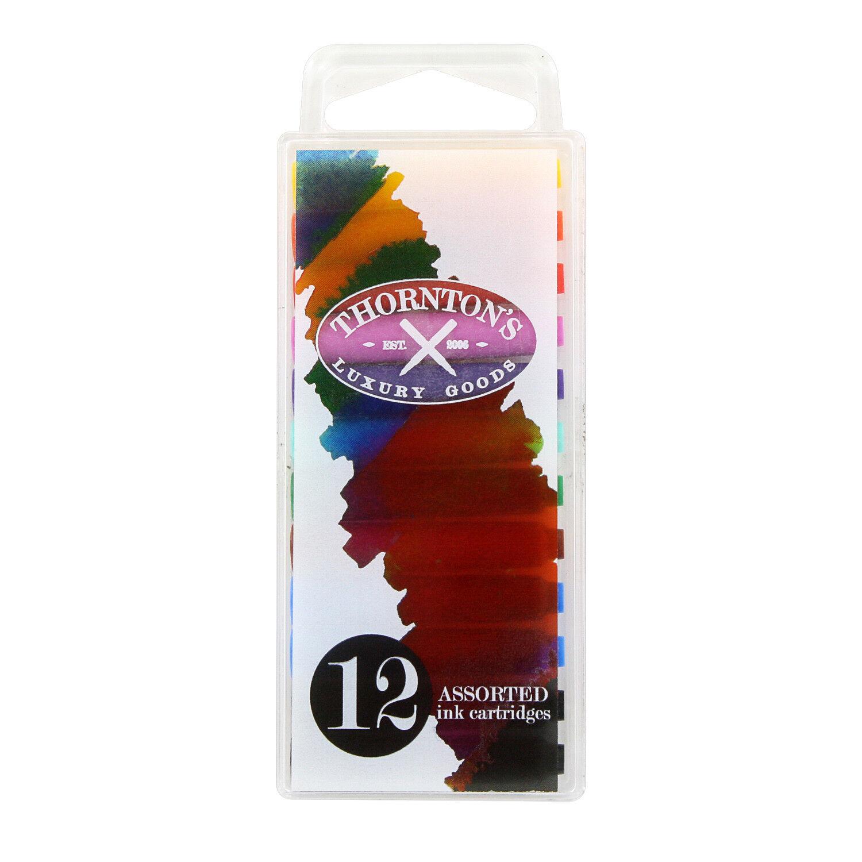 12Pcs multi-color ink Cartridges Refill Universal design pen Fountain ink G3H0