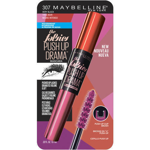 47c41723597 Maybelline The Falsies Push up Drama Mascara 307 Very Black X2 Waterproof  for sale online | eBay