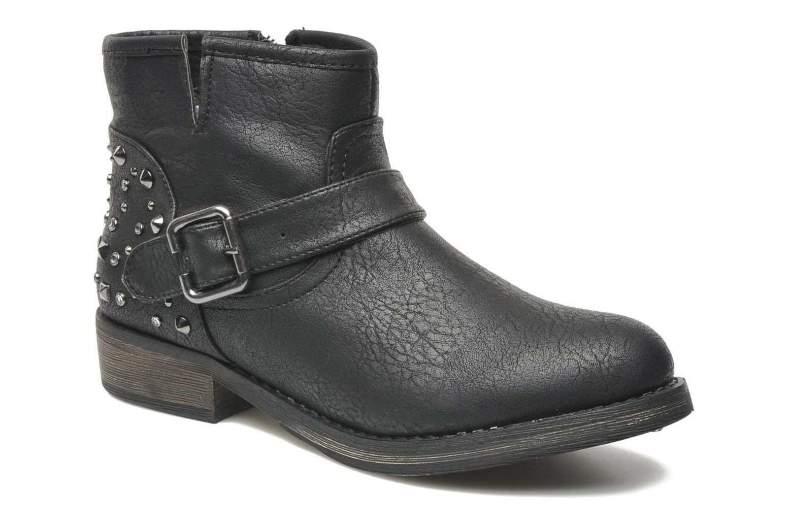 New! Skechers Womens Accented Toughy Ankle Boots-Style 48257-Black  92H p/l