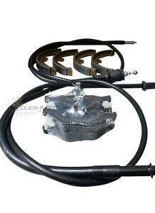 Rover-75-2-cables-frein-a-main-arriere-frein-a-main-arriere-Chaussures-amp-jeu-de-plaquettes-de