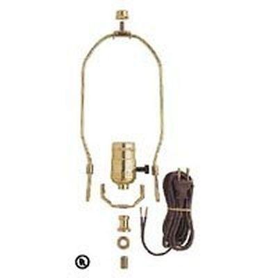 WESTINGHOUSE 7026800 BRASS MAKE A LAMP HARP FULL KIT 3 WAY SOCKET CORD 6057574