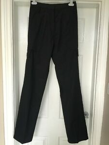 BNWT Haywood TL45 Work Nurses Carer Cargo Trousers in Black Size 8 x 29L