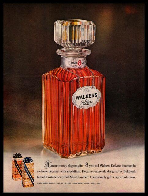 1960 Walker's DeLuxe 8 Year Bourbon Whiskey Christmas ...