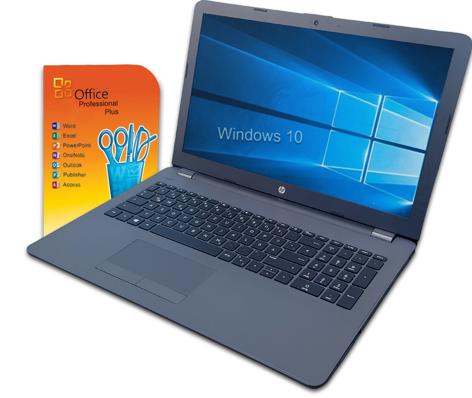 """HP 15,6"""" Notebook Laptop ~ i3 ~ 8GB ~ SSD ~ Win 10 Pro ~ Office 2019 ~ schnell"""