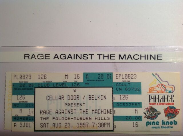 Rage Against The Machine 1997  Michigan.   {{FREE SHIPPING}}