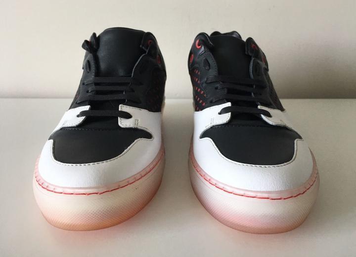 Scarpe casual da uomo  Balenciaga Perforated Navy Leather Translucent uomo Sneakers. Size 39