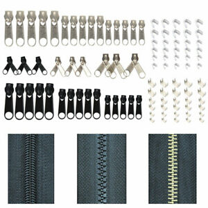 84PCS-SET-KIT-DE-REPARATION-POUR-ZIPPES-DE-REMPLACEMENT-METAL-ZIP-SLIDER