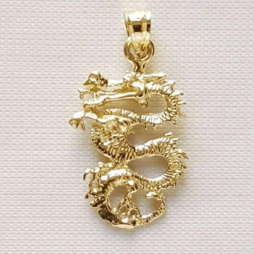 14k or Jaune Dragon 3D Pendentif//Charm Made in USA