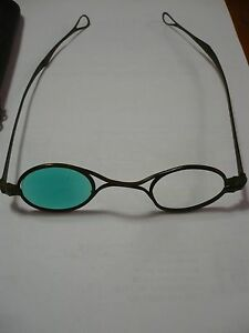 c9efc94b1ea Image is loading Antique-Folding-Temple-Eyeglasses-Rare-1800s-Sunglasses- Civil-