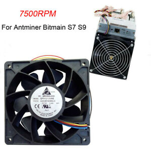 Cooling-Fan-Replacement-7500RPM-4-pin-Connector-For-Antminer-Bitmain-S7-S9
