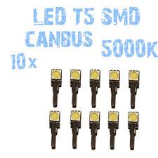 N° 10 Gloeilampen LED T5 Wit 5000K SMD 5050 Koplampen Angel Eyes DEPO FK 12v 1B2