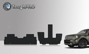 ToughPRO 2nd + 3rd Row Black For KIA Telluride All Weather ...