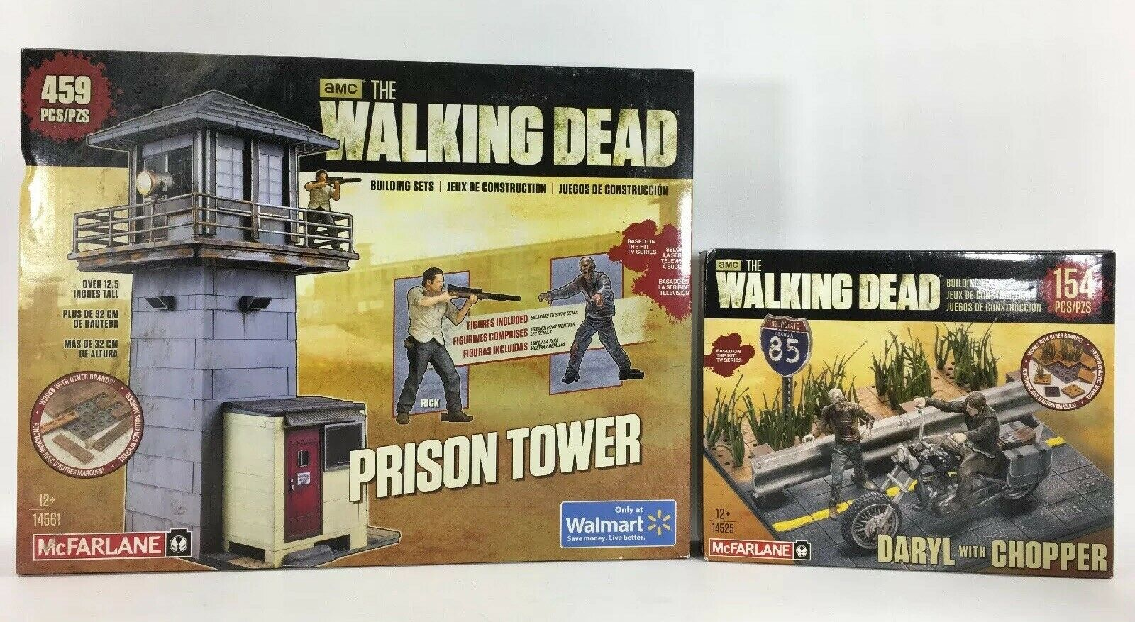McFarlane AMC The Walking Dead Building Sets 14561 Prison Tower Daryl w  Chopper