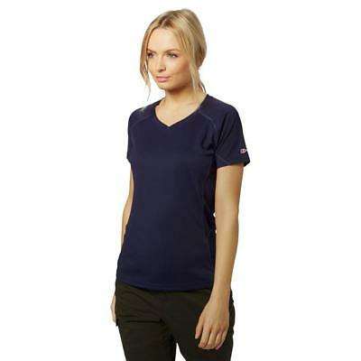 New Berghaus Womens Short Sleeve V-Neck Tech T-Shirt Tops