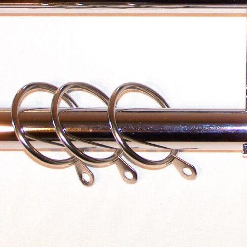 28//19mm Double Layer Gloss White Curtain Pole Circle Ball 1.2m 1.5m 2.4m 3m