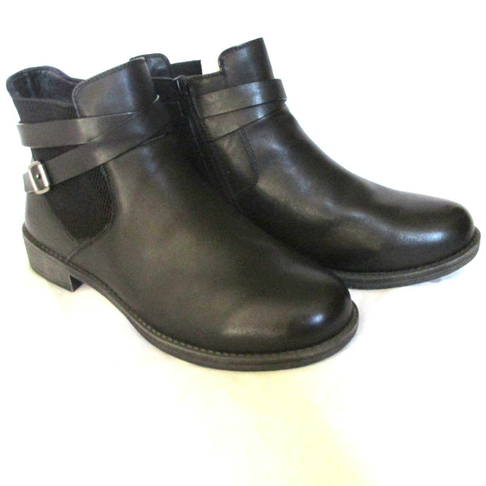Propet Women's Tatum Ankle Bootie, Black, 9 X (2E) US
