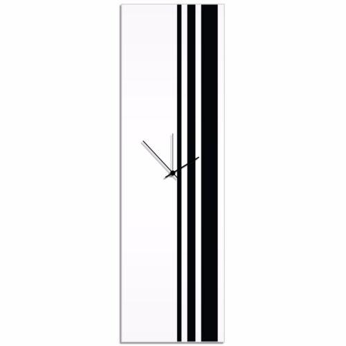Large Modern Clock Wall Decor Minimalist Accent Piece Black White Black Clock