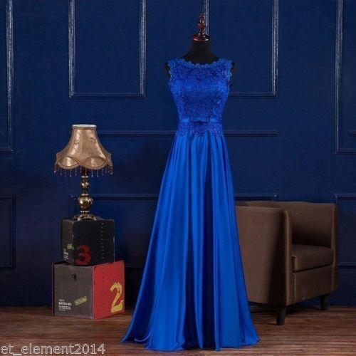 Plus Size 6-30 Applique Long Bridesmaid Prom Gowns Formal Evening Party Dresses